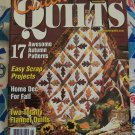 FREE S&H USA McCall&#39;s Quilting Patterns Quick Quilts Back Issue Magazine November 2002