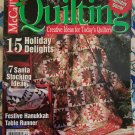 December 2002 McCall's Quilting Magazine with 15 Holiday Quilt Patterns USA S&H F R E E