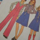 0 S&H USA Girls 8 10 Vintage Sewing Pattern Back Wrap Skirt Shirt Pants Reversible Vest 7909