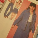 Girls Vintage Sz 10 Sewing Pattern 9565 Skirt Cami Straight Leg Pants Shirt or Shirt Jacket