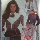 Vintage Misses Sewing Pattern Brooke Long Sleeve Yoke Shirts Sz 10  2123