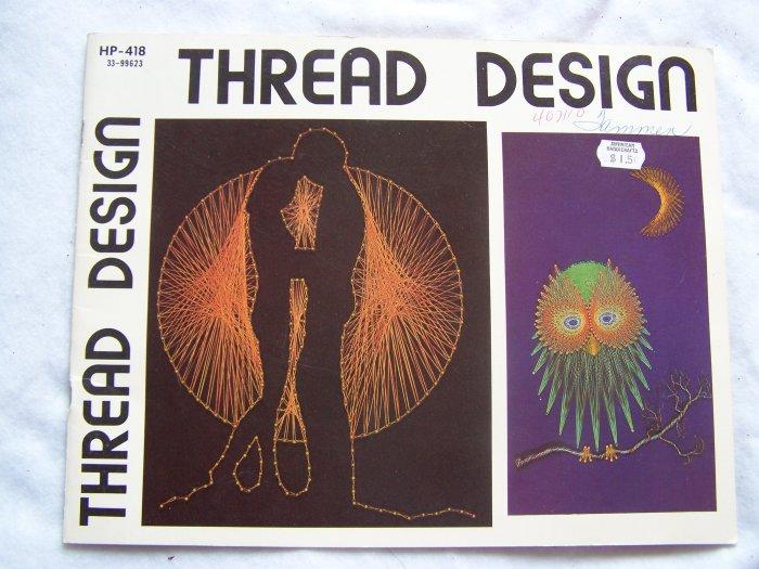1970's Vintage String Art Pattern Book Thread Designs
