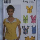 1 Cent USA S&H Simplicity 5059 Misses 4 6 8 10 Summer Tops Shaped Bodice Sleeve Variations