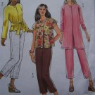 Easy Butterick Sewing Pattern 5000 Misses Unlined Jacket Sash Pull on Pants 4 6 8 10 12 14
