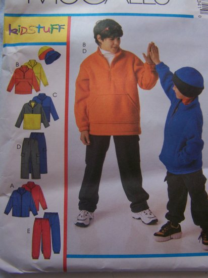 Toddler 3 4 5 6 Children's Sewing Patterns Winter Fleece Clothing Jacket Top Pants Hat