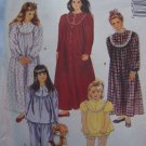 Girls 12 14 Sewing Pattern Nightgown Pajamas Pjs Babydoll McCalls 5673