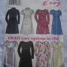 New Look Sewing Pattern 6681 Easy 8 Dress Styles Short or Long Sleeves 8 10 12 14 16 18