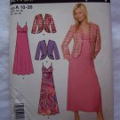 Uncut Simplicity Sewing Pattern 4214 Spaghetti Strap Empire Waist Dress & Jacket 10 12 14 16 18 20