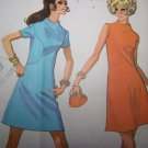 Misses XXS XS S Vintage Sewing Pattern 2226 Mod A Line Dress Shaped Seams