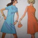 Misses XXS XS S Vintage Sewing Pattern 2226 Mod A Line Dress Shaped Seams