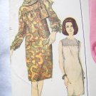 1960s Misses Vintage Sewing Pattern 6778 Slim Dress Smocked Yoke Bust 31