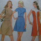 Vintage 70s Easy Dress Sewing Pattern 2357 Shaped Front Yoke Princess Seamed