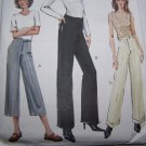 Uncut Vogue Sewing Pattern 7804 Misses Pants Long Capri Cuffs Contour Low Waist 12 14 16