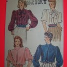 Uncut Vogue Vintage Sewing Patterns 8464 Classic Puff Sleeve Blouse Bust 34