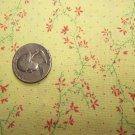 Virginia Robertson Vintage Cotton Fabric Yellow Red Polka Dots Flowers Print