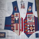 New Dreamspinners Misses Cotton Fabric Vest Panel Americana Fourth of July