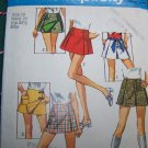 1970s Misses Scooter Skirts Vintage Sewing Pattern Simplicity 8698