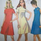 1970s Vintage Sewing Pattern 2465 Misses Dress Shaped Front A Line Bust 32 1/2