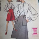 Uncut 60s Misses Bust 32 Tom Jones Shirt A Line Skirt Sewing Pattern 7378