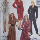 Uncut Misses 8 10 12 Sewing Pattern 5161 Shirt Waist Dresses Pleated Jumpsuit