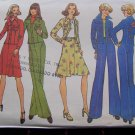 Uncut Vintage Sewing Pattern 7093 High Waist Center Seam Pants Hippie Jacket Flare Skirt Sz 10