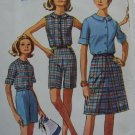 Uncut Free USA S&H 1960s Vintage Sewing Pattern 6504 Mad Men Summer Wardrobe Shorts Top A Line Skirt