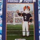 "Fibre Craft Crochet Football Player Uniform Pattern 16"" Doll FCM227"