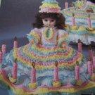 Fibre Craft Doll Clothes Crochet Pattern Birthday Girl Music Box or Pillow Doll FCM210