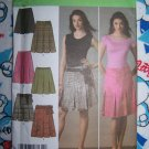 FREE USA S&H Uncut Simplicity Sewing Pattern 4498 Misses Pleated Skirts 4 6 8 10 12