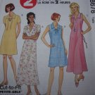 0 USA S&H UnCut Sewing Pattern 8678 Plus Size Easy Summer Dress V Neck Tie Lace 22 24 26W