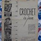 1950's Vintage Pattern Book Crochet IS Fun 12 Crocheting Patterns Baby Kitchen Womens