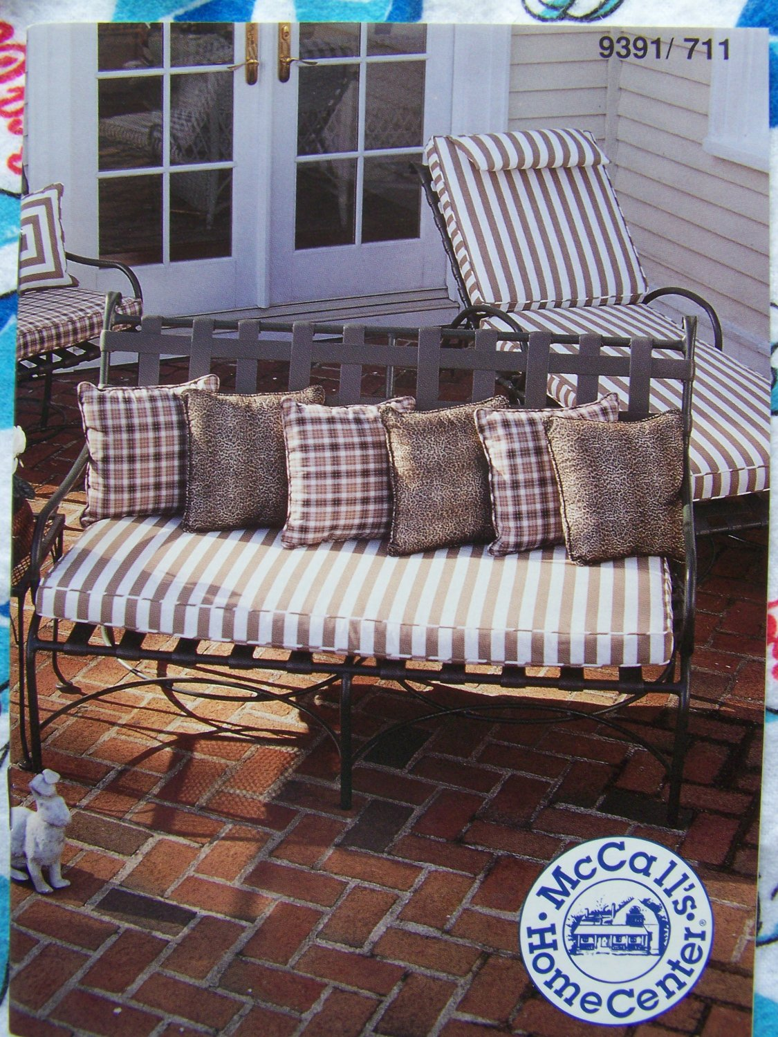 New sewing patterns instructions recovering outdoor for Chaise lounge cover pattern