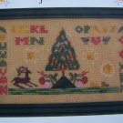 New Cross Stitch Sampler Pattern Antique Style Splendid Forest Embroidery
