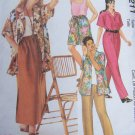 Uncut Womens Plus Size Sewing Pattern 2211 Wardrobe Shirt Pull on Pants Shorts Skirt 18 20 22W