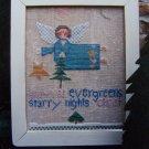 Primitive Folk Art Cross Stitch Pattern Winter Angel Fanci That 72