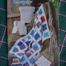 1980s Vintage Annies Sampler Crochet Patterns Book Afghan Vest Scarf Shell Top Placemat