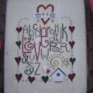 1997 Embroidery Love Hearts Sampler Graph Chart Pattern