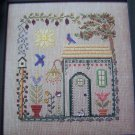 New Cross Stitch Embroidery Chart Bluebird Cottage Pattern