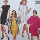 Free USA S&H Uncut Womens Plus Size 22 24 26 Sewing Pattern 6446 Slim Dress Over Sized Jacket