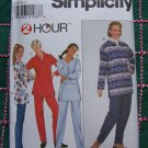 Uncut Plus Size Womens 18 20 22 Sewing Pattern 8247 Long Sleeve Pullover Tops Elastic Waist Pants