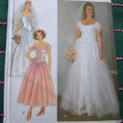 Uncut Sewing Pattern 7469 Princess Wedding Gown Corset Front Off SHoulder 12 14 16