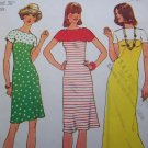 Uncut Vintage 1970s Sewing Pattern 7017 Misses Knit Pullover Dress Bateau Neck Kimono Sleeve B 36
