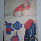 14 Vintage Knitting & Crochet Patterns Coats & Clark's Book 277 Dolls Toys Animals Dog Sweater