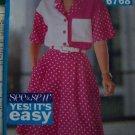 Uncut Easy Sewing Pattern 6768 Misses Loose Short Sleeve Shirt Wide Leg Shorts Gauchos 12 14 16