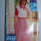 Uncut 1990s Easy Wide Legged Culotte Dress Sewing Pattern 6880 Misses 12 14 16