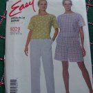 New Sewing Pattern 9329 Misses 8 10 12 14 Summer Top Pull on Elastic Shorts & Pants Side Pockets