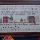 Vintage He is Happiest Sampler Cross Stitch Embroidery Needlepoint Pattern