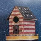 Vintage Cross Stitch Patterns Patriotic Folk Art Primitive Country Birdhouse Pail Whirlygig