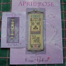 Lot of 2 April Rose Sampler & Needleroll Lenarose Cross Stitch Patterns Signed By Cheryl Keddie