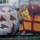 7 Vintage Afghan Crochet Patterns Pack A Ghans Red Heart Yarn Book 338